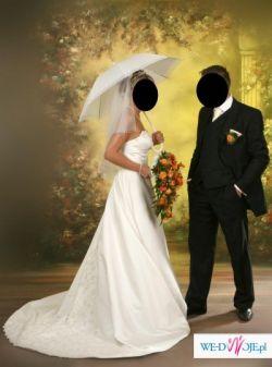 sprzedam śliczną suknię ślubną kupioną we Francji w 2006r.