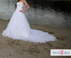 Sprzedam śliczna suknie ślubną r. 36-38 !! Warto