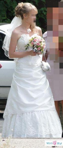 Sprzedam śliczną suknię ślubną roz. 36/38