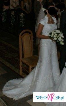 Sprzedam śliczną suknię ślubną sincerity 3143.Biała wyszywana ręcznie.