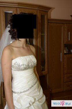 sprzedam śliczną suknię ślubną TANIO OKAZJA