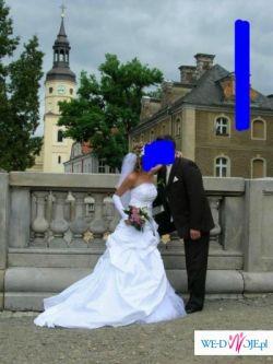 Sprzedam śliczna suknię ślubną w kolorze białym