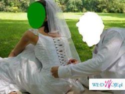 sprzedam śliczną suknię ślubną w korzystnej cenie