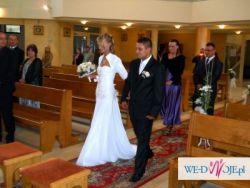 Sprzedam śliczną suknie ślubną wraz z bolerkiem !