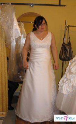sprzedam śliczną suknię ślubną XL
