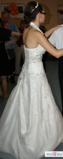 Sprzedam śliczną suknie ślubną z dodatkami rozmiar 36