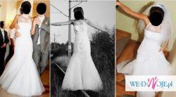 Sprzedam śliczną suknię ślubną z golfem
