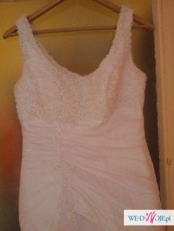 Sprzedam śliczną suknię ślubną z salonu Diana rozmiar 38