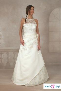 Sprzedam śliczną suknię w kolorze ecru!!!