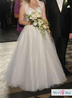 Sprzedam śliczną tiulową suknię!