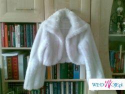 Sprzedam śliczne białe bolerko ślubne!!!