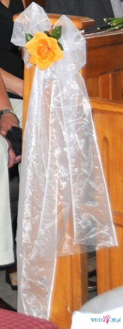 Sprzedam ślubną dekorację ławek do kościoła! zapraszam