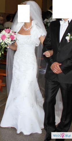 Sprzedam Śnieżno-białą Suknię Ślubną  Firmową Mori Lee roz. 38