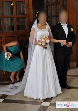 Sprzedam śnieżnobiałą suknię ślubną firmy Nabla