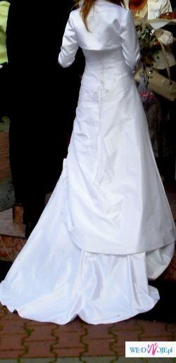 Sprzedam śnieżnobiałą  suknie ślubną szytą w Bostonie!