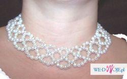 Sprzedam srebrny naszyjnik z prawdziwymi perłami