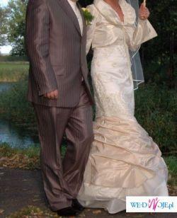 Sprzedam stylową suknię ślubną + bolerko GRATIS