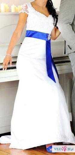 Sprzedam stylową suknię ślubną rozmiar 38