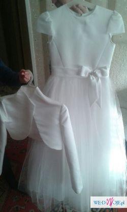 Sprzedam sukienkę komunijną wraz z dodatkami