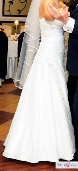 sprzedam sukienkę ślubą-r.38/40 +gratisy