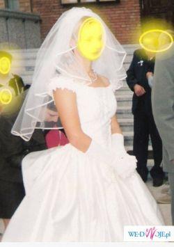 sprzedam sukienke ślubną /ecru z trenem/