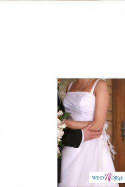 sprzedam sukienke ślubną kolor biała jest po czyszczeniu chemicznym. rozm.36.