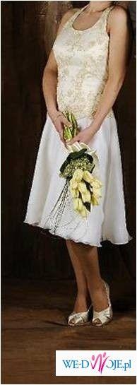 Sprzedam sukienkę ślubną krótką