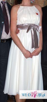 Sprzedam sukienkę ślubną - krótka, ecru