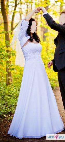 Sprzedam sukienkę ślubną szytą w znanym poznańskim salonie+gratis