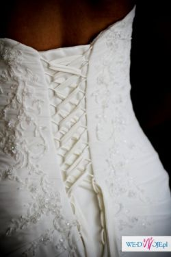 Sprzedam sukienkę ślubną z muślinu