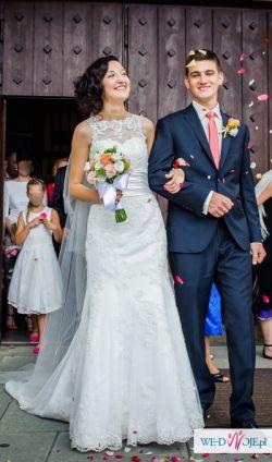 SPRZEDAM-suknia ślubna Alecta (Justin Alexander 8596) r.36/38