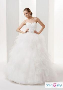 """Sprzedam suknia ślubna Gala model Evita (""""szarpana"""") 2014 r."""