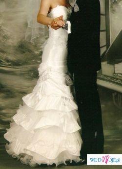 sprzedam- suknia slubna- rybka, romantyczna i elegancka, vivien-vigo