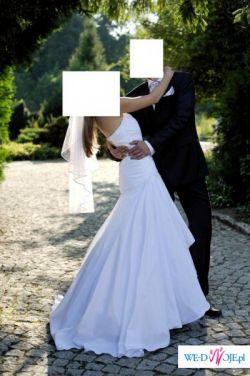 Sprzedam suknię białą rozm 38/40, bolerko i welon