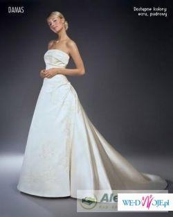 """Sprzedam suknię """"Damas"""" koloru ecru,"""