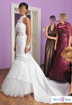 Sprzedam suknię FARAGE model Sabine! Rozm.38/40; wzrost 170-176 cm; kolor biały