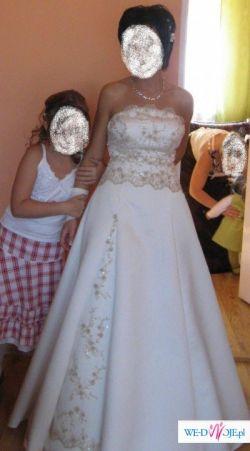 sprzedam suknię koloru ecri