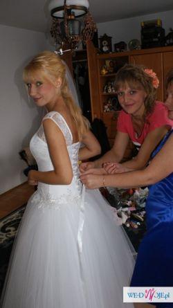 Sprzedam suknię ślubną 34-36