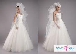 Sprzedam suknie ślubną Agora z kryształami SVAROWSKIEGO bolerko w cenie