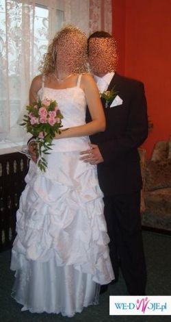 Sprzedam suknię ślubną białą 38/40 , ok 170 cm