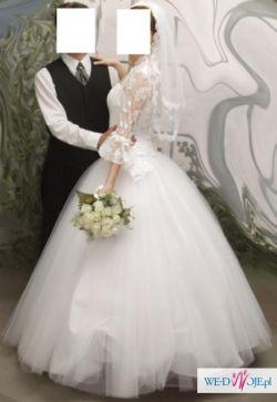 Sprzedam suknię ślubną białą, bardzo delikatną