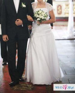 sprzedam suknię ślubną białą OKAZJA