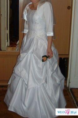 Sprzedam suknie slubna białą rozm.36/38 wzrost 160cm,