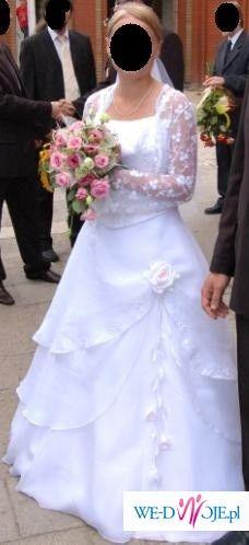 Sprzedam suknię ślubną białą rozmiar 38