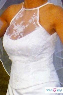 Sprzedam Suknię Ślubną białą szytą w salonie śłubnym w Kaliszu we wrześniu 2006