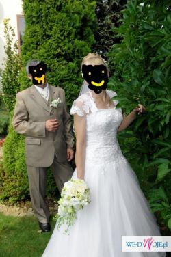 Sprzedam suknię ślubną biała typ PRINCESSA roz 40