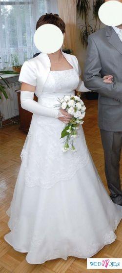 Sprzedam suknię ślubną białą w rozmiarze 36/38
