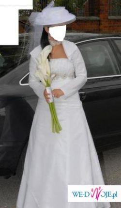 Sprzedam suknie ślubną, bolerka i welon GRATIS!!!