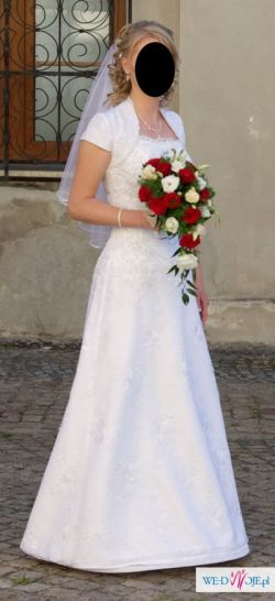 Sprzedam suknię ślubną + bolerko