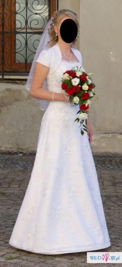Sprzedam suknię ślubną( bolerko gratis)